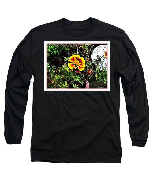 Long Sleeve T-Shirt featuring the photograph Orange And Yellow Flower by Joan  Minchak
