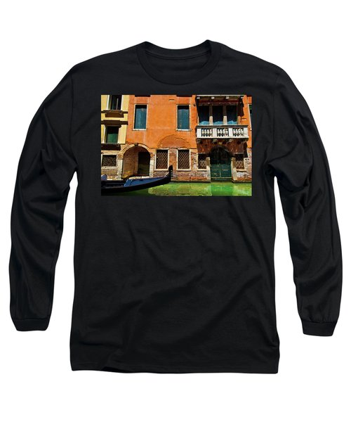 Long Sleeve T-Shirt featuring the photograph Orange Building And Gondola by Harry Spitz
