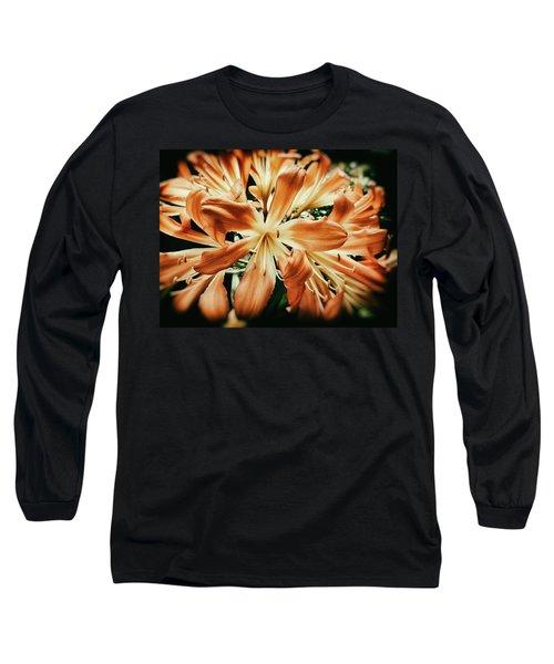 Orange Crush Long Sleeve T-Shirt by Karen Stahlros