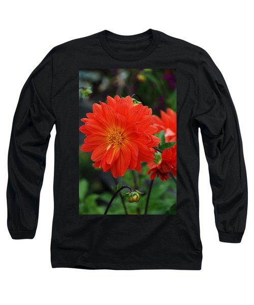 Orange Dahlia Long Sleeve T-Shirt