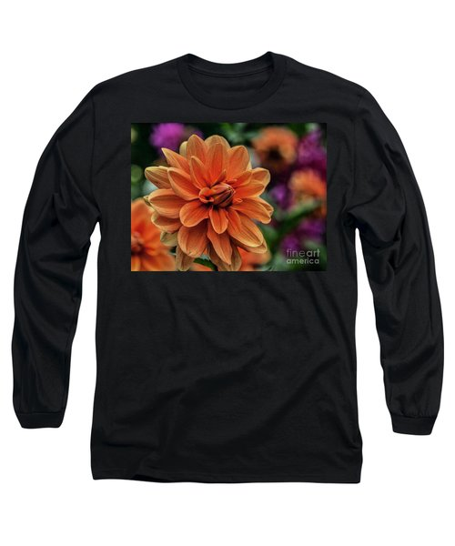 Orange Dahlias Long Sleeve T-Shirt