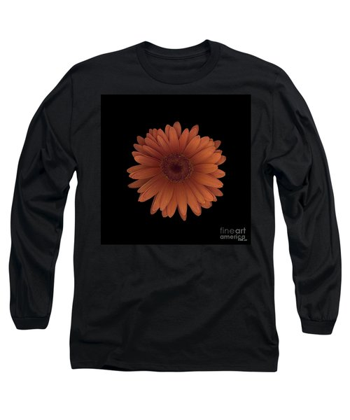 Orange Daisy Front Long Sleeve T-Shirt