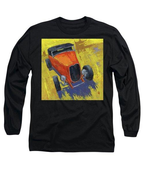 Orange Hot Rod Roadster Long Sleeve T-Shirt