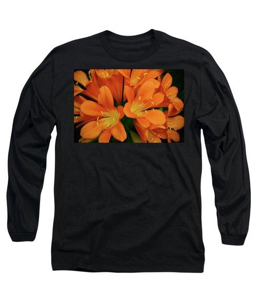 Orange Lilies No. 1-1 Long Sleeve T-Shirt