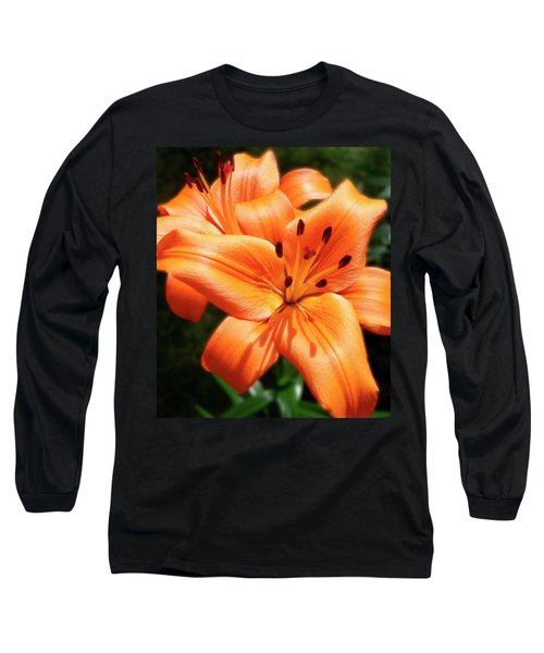 Orange Lily Joy Long Sleeve T-Shirt