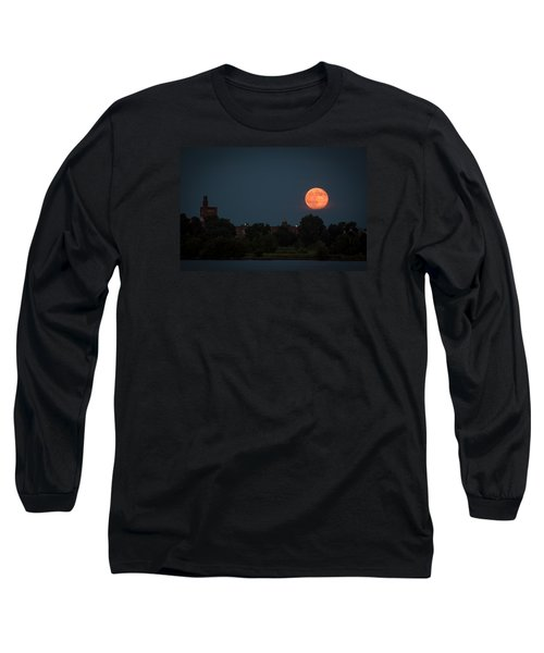 Orange Moon Long Sleeve T-Shirt