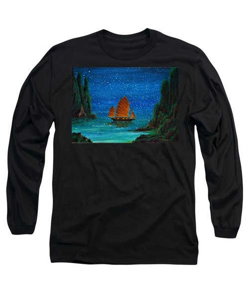 Orange Sail Long Sleeve T-Shirt