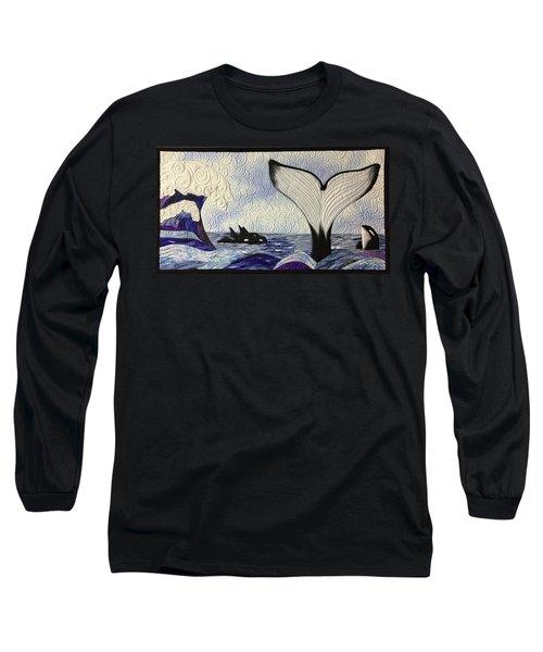 Orcas At Play Long Sleeve T-Shirt