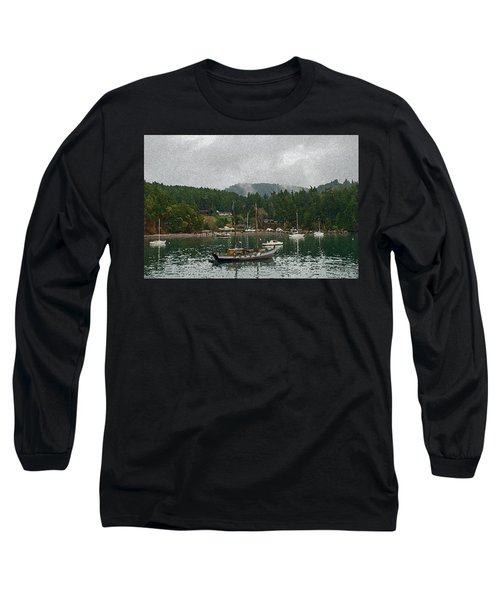 Orcas Island Digital Enhancement Long Sleeve T-Shirt