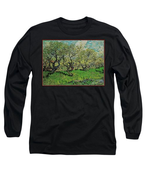 Orchard In Blossom Long Sleeve T-Shirt by Pemaro