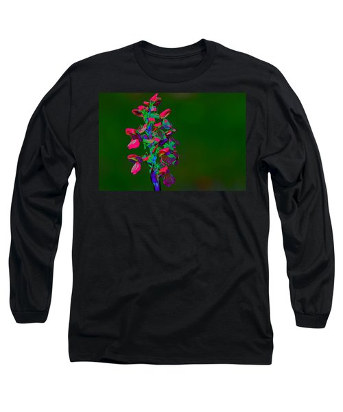Orchid Long Sleeve T-Shirt by Richard Patmore