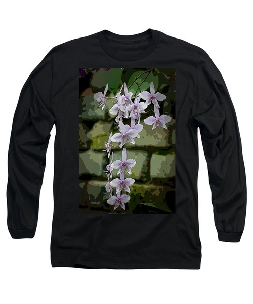 Orchid Waterfall Long Sleeve T-Shirt
