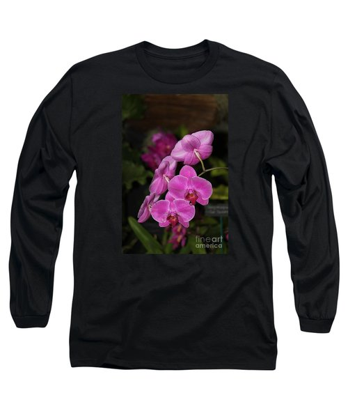 Orchids Alicia Long Sleeve T-Shirt by The Art of Alice Terrill