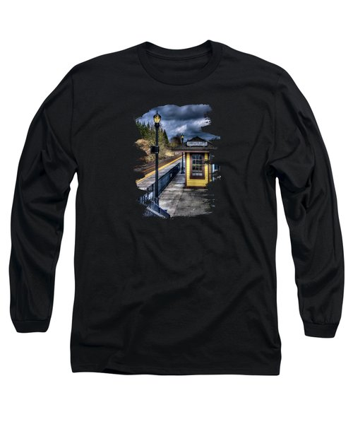 Oregon City Train Depot Long Sleeve T-Shirt by Thom Zehrfeld