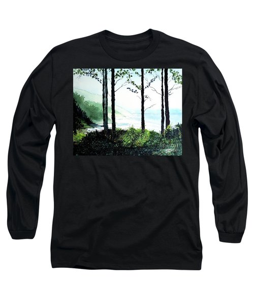 Oregon Coast Long Sleeve T-Shirt by Tom Riggs