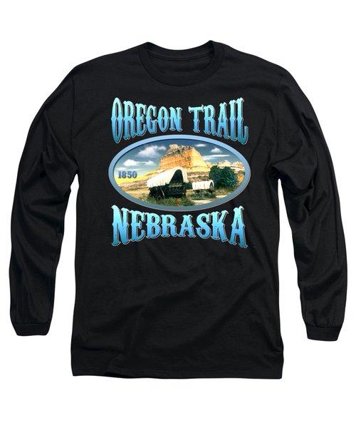Oregon Trail Nebraska History Design Long Sleeve T-Shirt