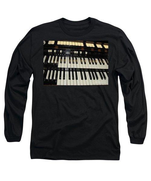 Hammond Organ Keys Long Sleeve T-Shirt