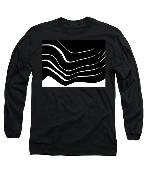 Organic No. 10 Black And White #minimalistic #design #artprints #shoppixels Long Sleeve T-Shirt