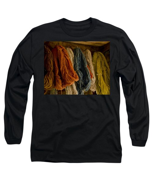 Organic Yarn And Natural Dyes Long Sleeve T-Shirt by Wilma  Birdwell
