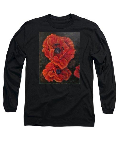 Oriental Poppys  Long Sleeve T-Shirt