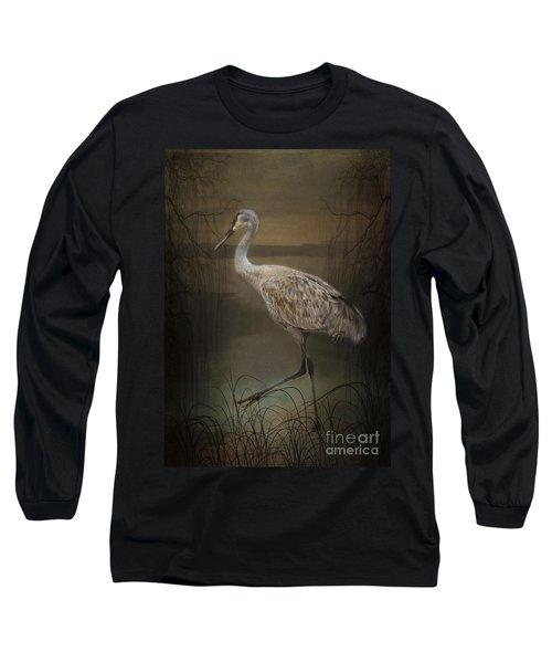Oriental Sandhill Crane Long Sleeve T-Shirt