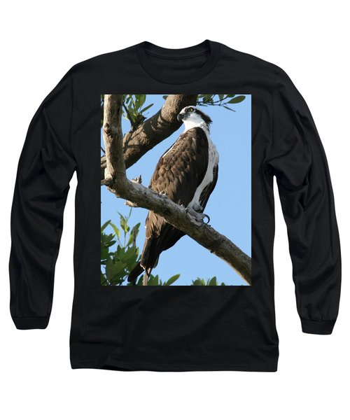 Long Sleeve T-Shirt featuring the photograph Osprey - Perched by Jerry Battle