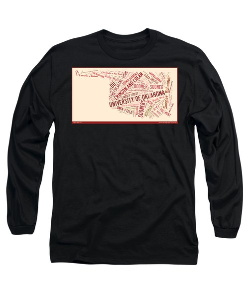 Ou Word Art University Of Oklahoma Long Sleeve T-Shirt