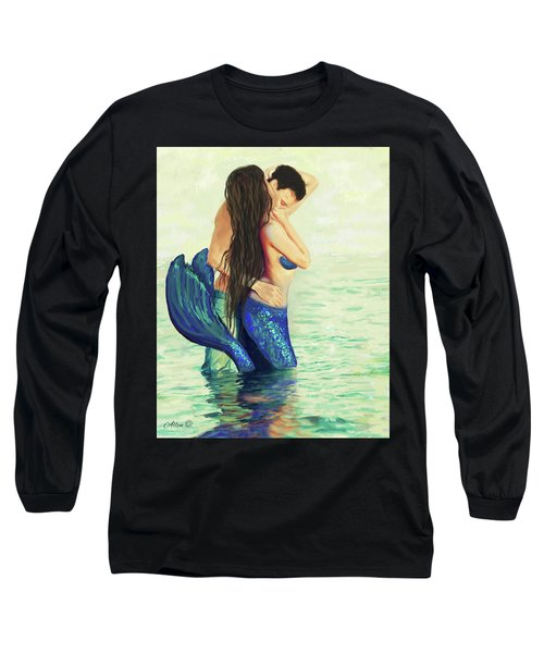 Long Sleeve T-Shirt featuring the painting Our Treasured Love by Leslie Allen