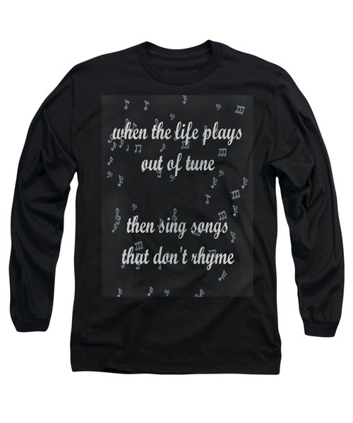 Out Of Tune Black Long Sleeve T-Shirt by Keshava Shukla