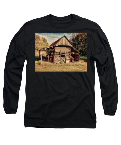 Long Sleeve T-Shirt featuring the photograph Out To Pasture 2 by Bellesouth Studio