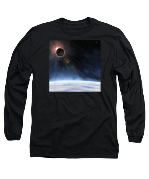 Long Sleeve T-Shirt featuring the digital art Outer Atmosphere Of Planet Earth by Phil Perkins