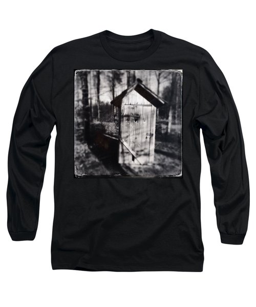 Outhouse Black And White Wetplate Long Sleeve T-Shirt