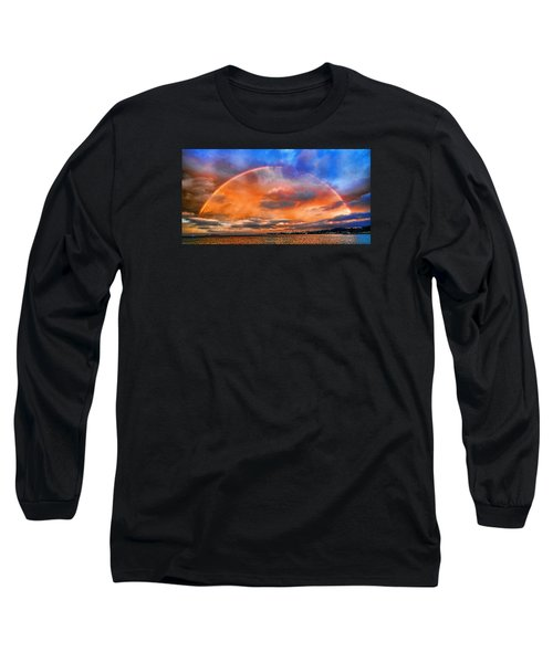 Long Sleeve T-Shirt featuring the photograph Over The Top Rainbow by Steve Siri