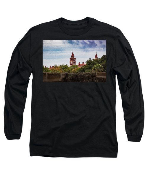 Long Sleeve T-Shirt featuring the photograph Over The Wall by Kathleen Scanlan