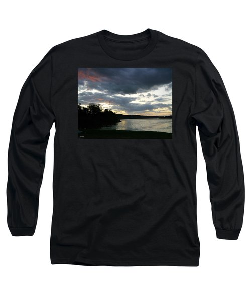 Overcast Morning Along The River Long Sleeve T-Shirt by Skyler Tipton
