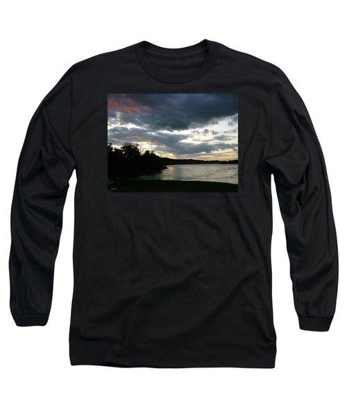 Overcast Morning Along The River Long Sleeve T-Shirt