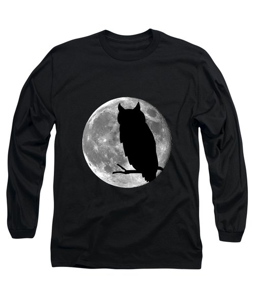 Owl Moon .png Long Sleeve T-Shirt by Al Powell Photography USA