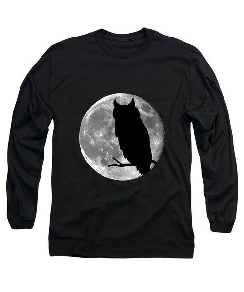 Owl Moon .png Long Sleeve T-Shirt