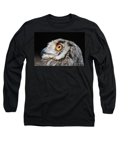 Owl The Grand-duc Long Sleeve T-Shirt by Mary-Lee Sanders