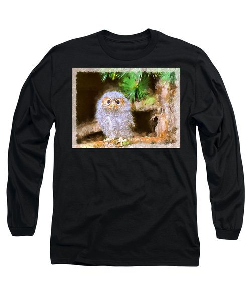 Owlet-baby Owl Long Sleeve T-Shirt by Maciek Froncisz