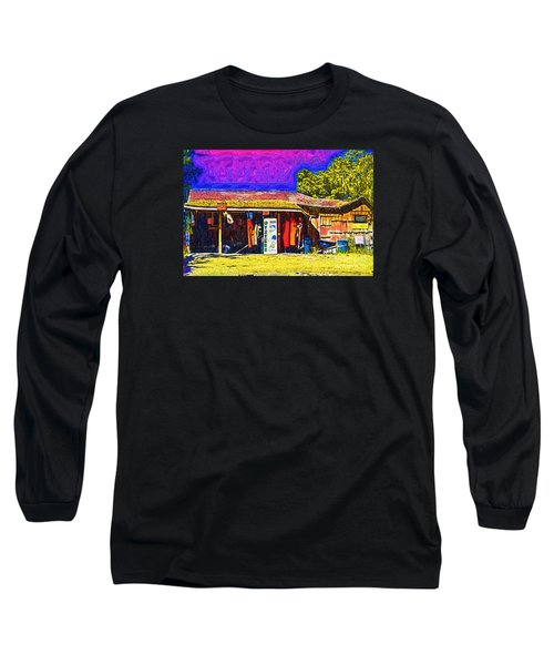 Long Sleeve T-Shirt featuring the digital art Oyster Hut by Kirt Tisdale