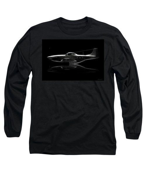 P-51 Mustang Profile Long Sleeve T-Shirt by David Collins