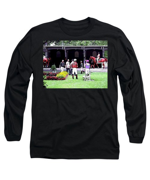 Long Sleeve T-Shirt featuring the digital art Paddock Painting by  Newwwman