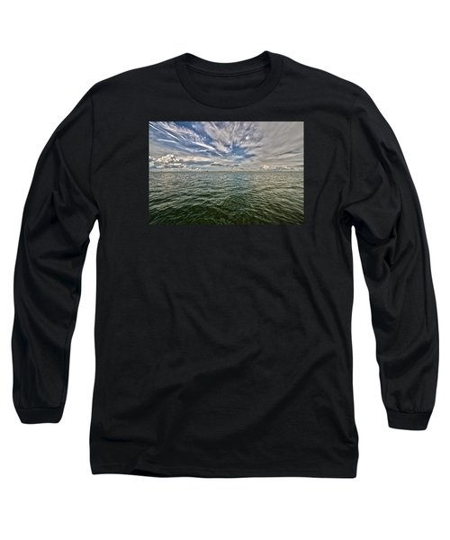 Paint Brush Sky - Ft Myers Beach Long Sleeve T-Shirt by Christopher L Thomley