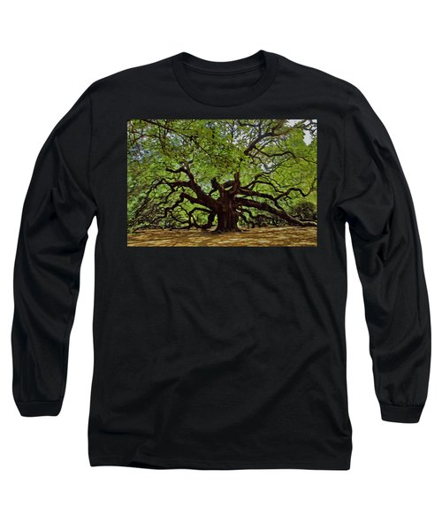 Painted Angle Tree Long Sleeve T-Shirt