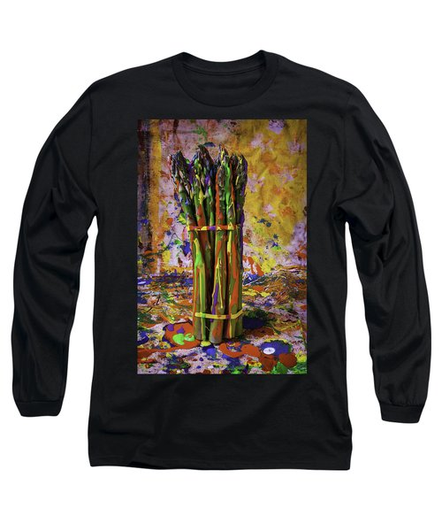 Painted Asparagus Long Sleeve T-Shirt by Garry Gay