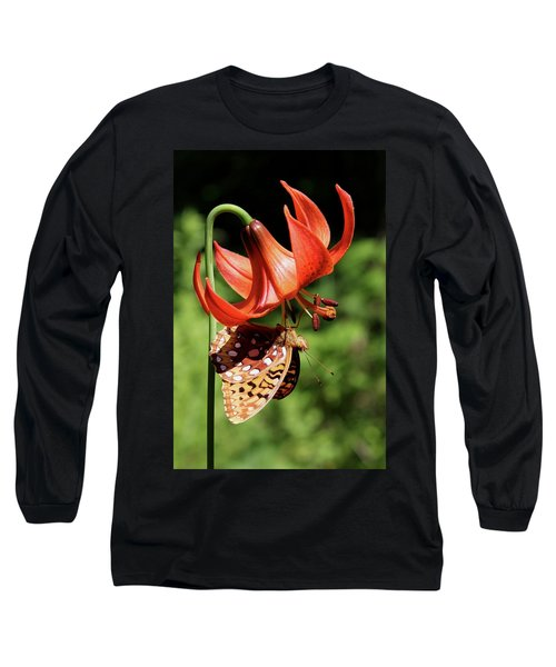 Painted Lady On Lily Long Sleeve T-Shirt