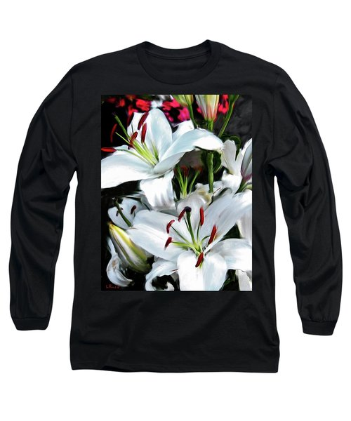 Painted Lilies Long Sleeve T-Shirt