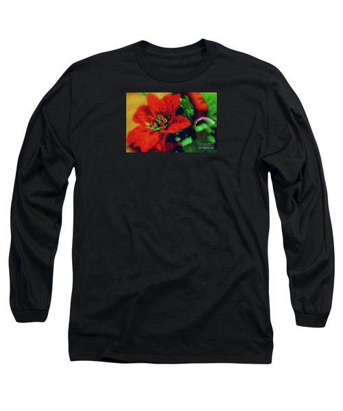 Painted Poinsettia Long Sleeve T-Shirt by Sandy Moulder