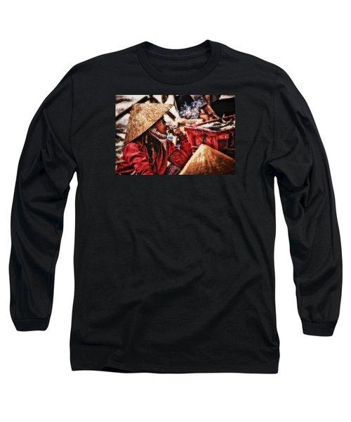 Painted Puffer Long Sleeve T-Shirt
